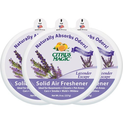 Citrus Magic Odor Absorbing Solid Air Freshener, Lavender Escape, 8-Ounce by Citrus Magic