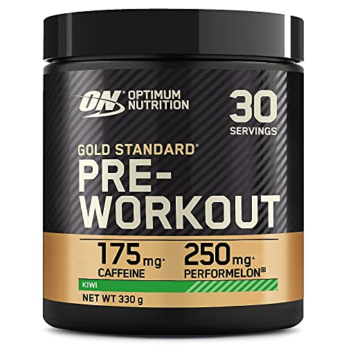 Optimum Nutrition Gold Standard Pre Workout Powder, Energy Drink with Creatine Monohydrate, Beta Alanine, Caffeine and Vitamin B Complex, Kiwi, 30 Servings, 330 g, Packaging May Vary