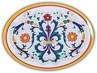 Italian Inspired Melamine Picnic Ricco Oval Platter