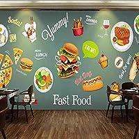 カスタム写真手の壁紙3D西洋料理パターンレストランスナックバー背景壁壁画壁紙