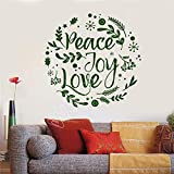 hetingyue Vinyl Wall Decals Love Peace Hippie Kids Flower Family Decoration Wall Sticker Family Wall Decal Decoration 87x84cm