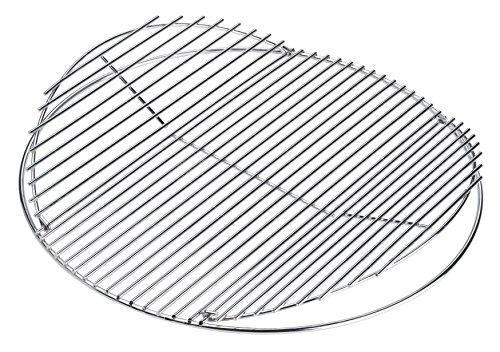 LANDMANN Rundgrillrost verchromt (Ø 55 cm) | Aufklappbar, um die Grillkohle und Briketts problemlos nachzulegen, passend für LANDMANN Holzkohlerundgrills mit Ø 55 cm [verchromt]