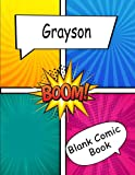Grayson comic book: Create Your Own Comics With This Empty Comic Book ,Large Big 8,5 x 11 With Lots of Templates, Notebook and Sketchbook for Kids and Adults to Unleash Creativity .Grayson gift idea.