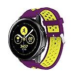 Silicona Correa de Repuesto para Samsung Galaxy Watch Active, Heligen Correas para Relojes de Hombre y Mujeres 20mm, para Samsung Galaxy Watch Active