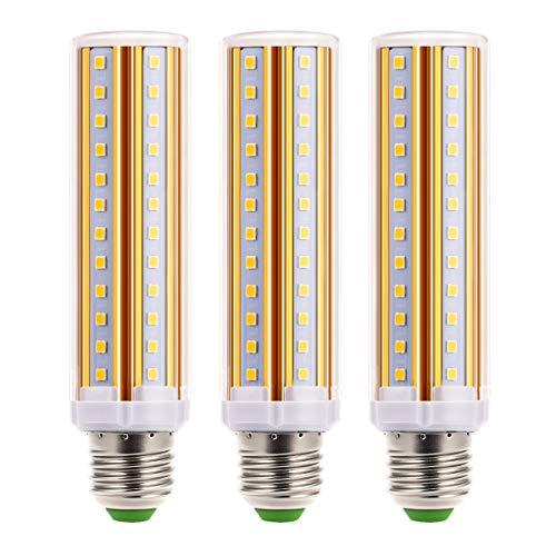 Lohas Led-kaarslamp, 12 W, warm wit, vervangt 100 W gloeilamp, 1300 lumen, niet dimbaar, tafellamp, 3000 K maïslamp, vervangt 23 W spaarlamp, staande lamp, 360 hoekstraal, verpakking van 3 stuks