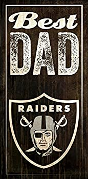 Fan Creations Oakland Raiders Best Dad Sign Multicolored