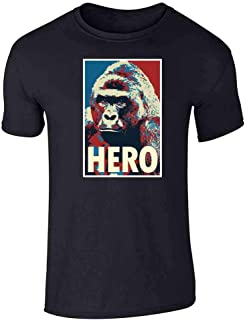 Harambe Pop Art Hero Meme Quote Political Clothing Graphic Tee T-Shirt for Men