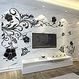 KANGNING Etiqueta engomada de la Pared Arte extraíble Mural Decal Sofá Sofá Hogar Decor3D Cristal Estéreo Fondo Pegatina de Pared-B Extra Grande-B Grande (200 * 140 cm) Well