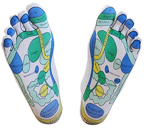 Reflexzonen-Socken, 2 Paar - für die einfache Fußreflexzonenmassage zuhause, Fußreflexzonenmassage, Massagesocken, Reflexologie