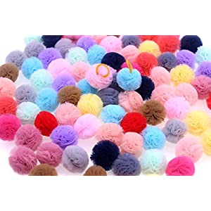 TAOBABY Small Dog Bows,Colored Ball Design for Puppy, Bows with Rubber Bands 0.78″,Pet Grooming Bows, Dog Hair Bows, Dog Hair Accessories 24pcs/Pack in Pairs