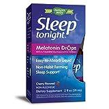 Nature's Way Sleep Tonight Melatonin Drops with L-Theanine, Fast Absorbing, 2 Oz, Cherry Flavor