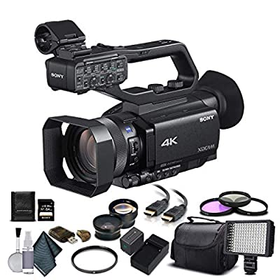 Sony PXW-Z90V 4K HDR XDCAM with Fast Hybrid AF(PXW-Z90V) with 64GB Memory Card, Extra Battery and Charger, UV Filter, LED Light, Case, Telephoto Lens, Wide Angle Lens, and More - Advanced Bundle from Mad Cameras