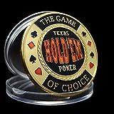 Jiechu Chapado en Oro The Game of Choice Poker Card-Guard Lasvegas Nevada Challenge Coin Creativos coleccionables conmemorativos