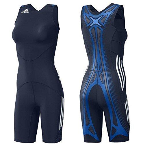 Adidas Adipower WR Powerweb Suit Wrestling Ringen Ringeranzug Damen Singlet blau