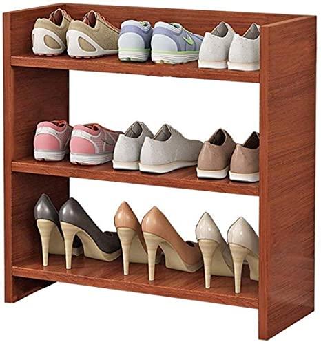 N/Z Inicio Equipos Estantes para Zapatos Estantes de Madera MDF apilables Estante para Zapatos Multifuncional Ahorro de Espacio (Tamaño: Color Teca)