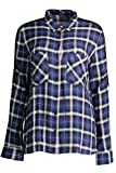 GUESS JEANS W63H19W7L10 Camisa con Las Mangas largas Mujer Azul S