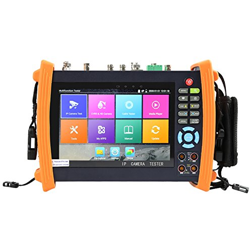 Electop 7 Inch CCTV Tester 1080P IP Camera Onvif Monitor SDI/AHD/TVI/CVI PTZ Control/POE/WIFI/Cable Tracer,Digital Multi-meter/Optical Power Meter/Visual Fault Locator/TDR Cable Test 8600MOVTSADH Plus