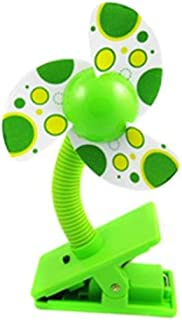 Baby Clip-On Mini Stroller Fan Green