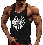 Camisetas Elástica de Fitness sin Mangas Tank Top Gym para Hombre Sin Mangas Gym Fitness Sport Culturismo Camisa