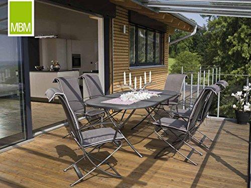 MBM Hochwertige Schmiedeeisen Sitzgruppe Beverly 6-Personen/Gartentisch/Terrassentisch/Outdoor