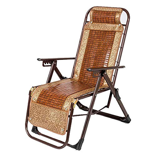 QCBC Household Folding Chair Deck Frame Adjustable Bed Camping Gear Twin Bed Frame Zero Gravity Chair Lounge Chair Outdoor Seating Bamboo Mahjong Chair