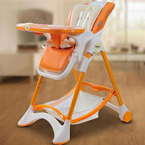 Review Of Jiu Si- Baby high chair - preferably leather + stainless steel tube + food grade PP, 6 mon...