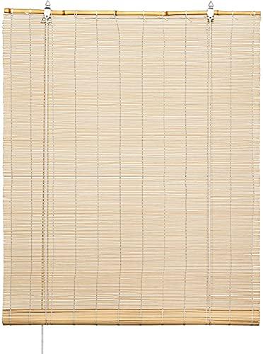 Store enrouleur 100 % bambou naturel 120 x 180 cm
