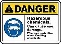 危険な化学物質錫サイン壁の装飾金属ポスターレトロプラーク警告サインオフィスカフェクラブバーの工芸品