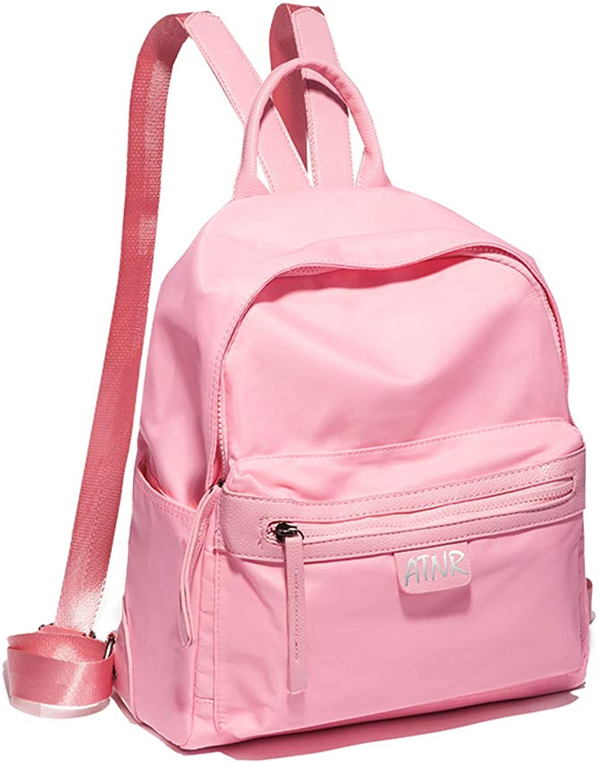 HLJ Simple Fashion Bag Personalized Leisure Travel Backpack Large Capacity Backpack (color   Pink, Size   23  13  28cm)