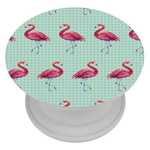 TIZORAX Telefonhalter Nahtloses Flamingo-Hintergrundbild Erweiterter Ständer und Griff für Smartphones und Tablets