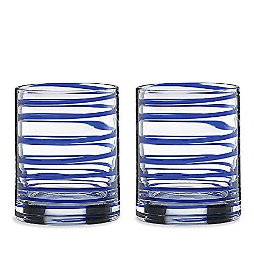 KATE SPADE Charlotte Street 2piece DOF Glass Set 185 LB Blue