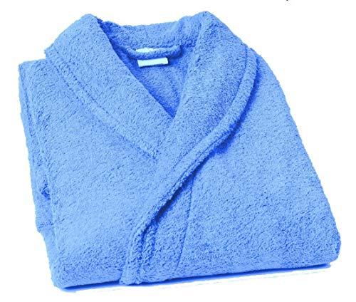 Lasa Pure - Schalkragen Bademantel, Größe  S, col. blau