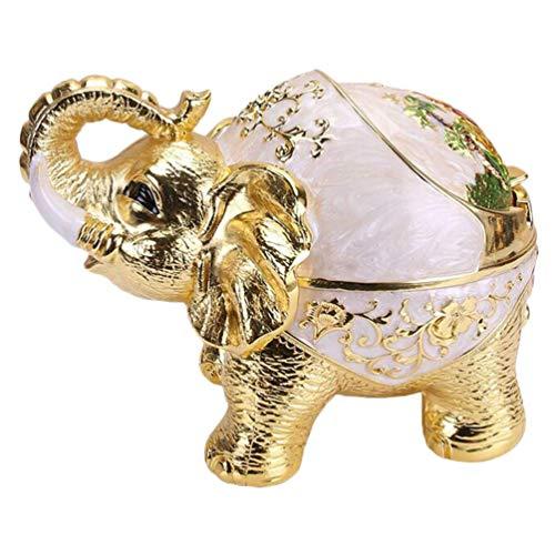 QTQZ Cenicero Vintage a Prueba de Viento con Tapa, Soporte Decorativo para cenicero de Cigarrillos Ganesha Lucky Elephant para decoración Interior y Exterior