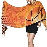 KENDIA Baloncesto bufanda de chal suave cachemir cálido invierno bufanda envuelve chales de pashmina