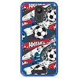 Hapdey Coque pour [ Bq Aquaris U Plus ] Dessin [ Modèle de Sport avec des Ballons de Football ]...