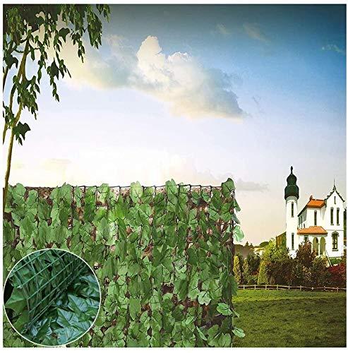 YZJL Cercas Decorativas Seto de Pantalla Gazebos Artificiales y pérgola Valla de Patio Cable de Paisaje de Hoja perennedecoracion Jardin