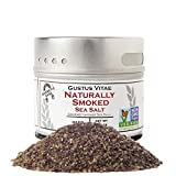 Natural Smoked Sea Salt | Non GMO Verified | Magnetic Tin | Finishing Salt | 3.0oz | Crafted In Small Batches By Gustus Vitae | #24