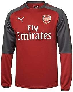 PUMA 2017-2018 Arsenal Training Sweat Top (Chilli Pepper)