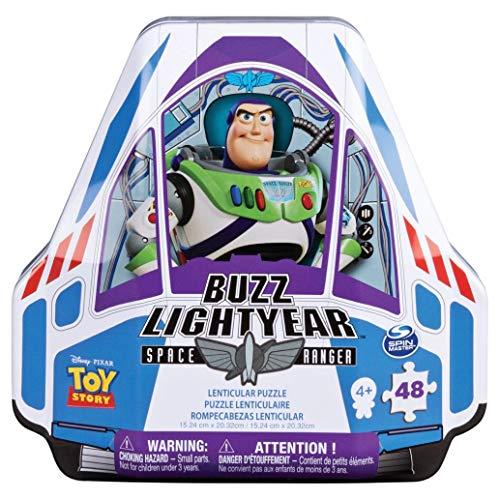 Spin Master Games Puzzle lenticolari Disney Toy Story 4 in confezione sagomata a forma di astronave Buzz Lightyear, Multicolore, 6047064