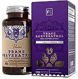 FS Trans Resveratrol 150mg 120 Capsulas Veganas | Extracto de Alta Potencia para la Salud Cognitiva | Suplemento de Superalimentos - Sin Gluten, OGM o Lácteos