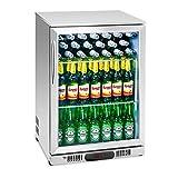 Royal Catering RCGK-138S Minibar Kühlschrank Getränkekühlschrank Flaschenkühlschrank mit Glastür