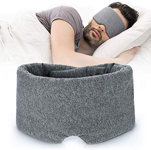 QAZXCV Handgefertigte Baumwollschlaf Komfortable & Atmungsaktive Augenmaske Zum Schlafen Einstellbar Blinder Mit Blinder Mit Reisetasche Mit Reisetasche - Beste Nacht Begleiter Eyeshade