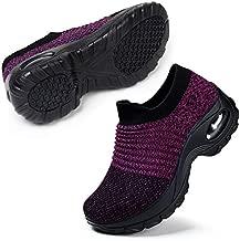Women's Fashion Sneakers Breathable Mesh Casual Sport Shoes Comfortable Walking Shoes Black Purple 6