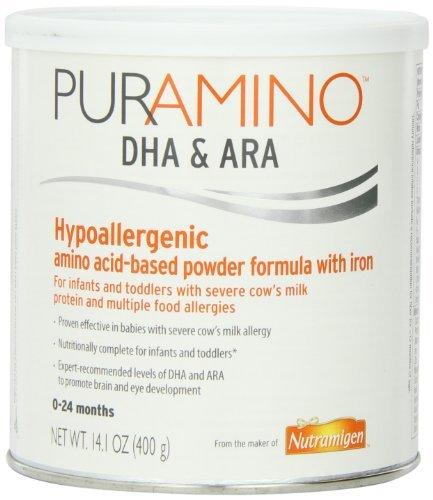 PurAmino Hypoallergenic Amino Acid based Formula with Iron Powder, 14.1 Ounce