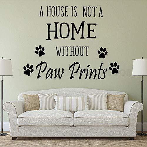 Ksnrang Pet Personalidad Slogan Vinyl Etiquetas DE VINILES Petras Dormitorio DE LA Sala DE Animales Petras Puede MOVAR Poder DE Pintura Decorativo Mural 55x42cm