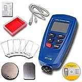 WANG Digital Paint Schichtdickenmessgerät Tester 0~1250um Mit eingebauter Auto F & NF-Sonde + USB-Kabel + CD-Software