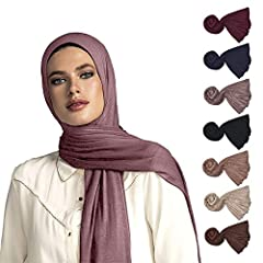 """NON-SLIP BREATHABLE MATERIAL - 67"""" x 27"""" (170 cm x 70 cm) Fabric is soft and easy to work with. Makes it the ideal jersey scarfs for women LIGHT WEIGHT AND EASY TO WEAR - the jersey scarf material is perfect for any wrap or turban styles. COMFORTABLE..."""