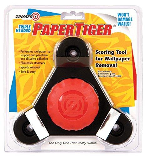 Zinsser 2976 Paper Tiger Free-Floating Self-Aligning Triple Head Wallpaper Remover Tool, 1 in L X 3 in W, Steel Teeth,