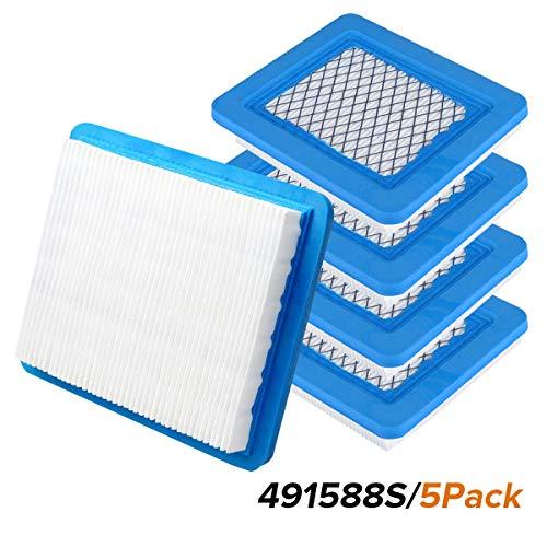 Rasenmäher Luftfilter, La Vane 5 Stück Luftfilter Ersatz für Briggs & Stratton 39959 491588S 491588 4915885