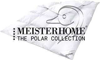 Meisterhome Daunendecke Ganzjahres 50% Daunen 50% Federn Steppdecke Bettdecke - The Polar Collection 135 x 200 cm.